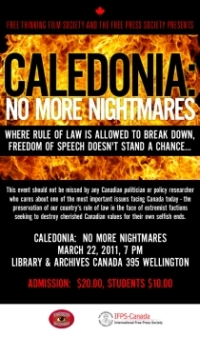 Free Thinking Film Society & International Free Press Society bring Caledonia to Ottawa